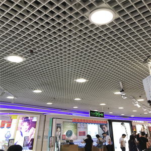 2020 Fashionable Aluminum Decorative Open Cell/grid Ceiling for Shopping Malls