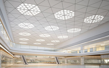 Aluminum ceiling unique design and excellent surface treatment