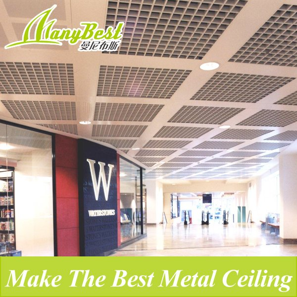 100*100 Environmental Metal Open Cell Suspended Ceiling/grid Ceiling