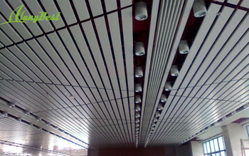 Manufacturers supply bank-specific aluminum baffle decorative ceiling