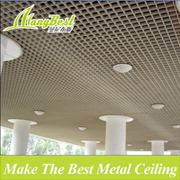 2018 Wood Grain Suspended Aluminum Grid Ceiling