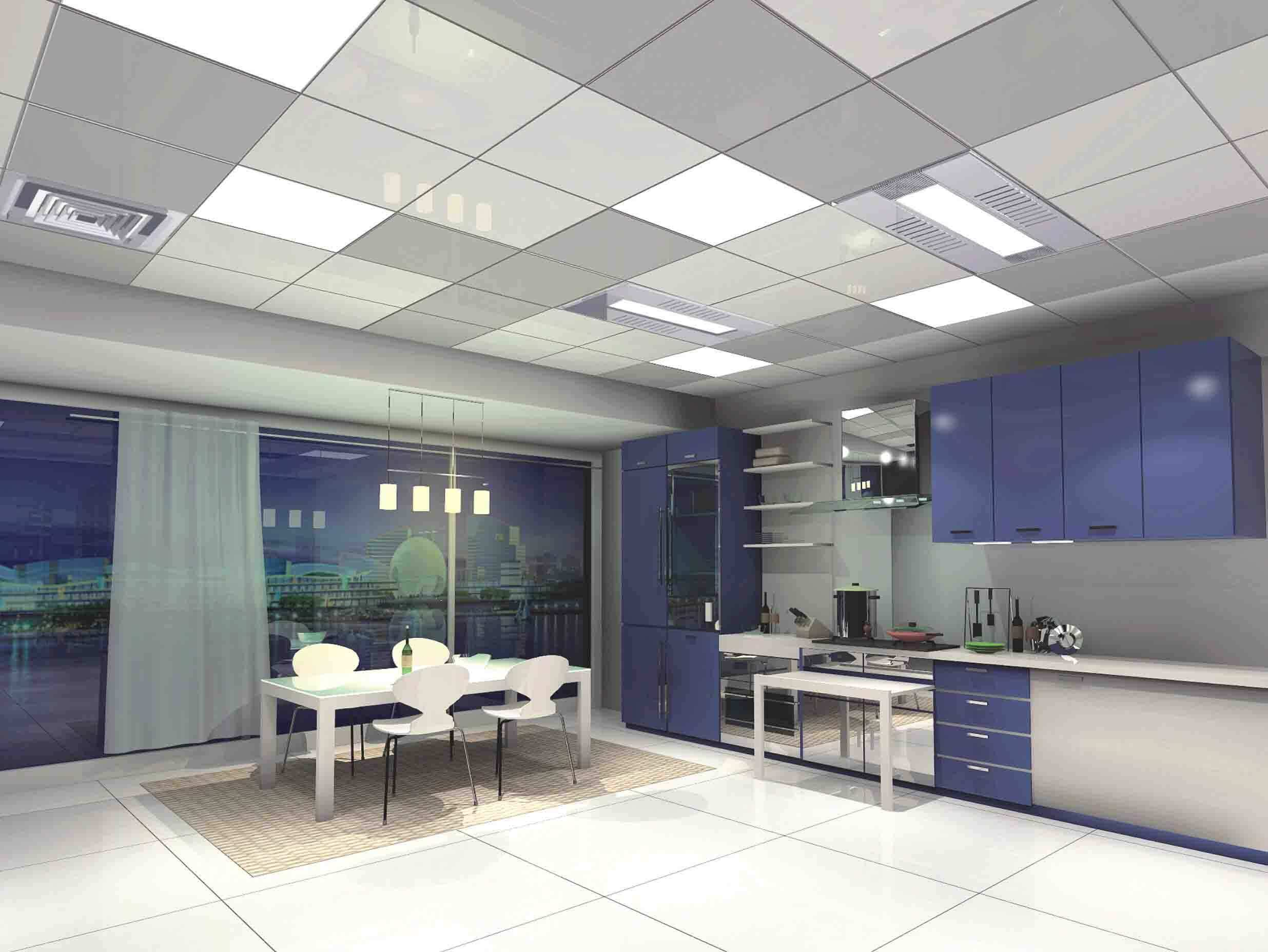 How about the interior ceiling decoration effect of aluminum clip in ceiling?