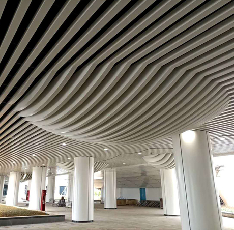 2020 New Manybset Fashion Aluminum Restaurant False Baffle Ceiling Design
