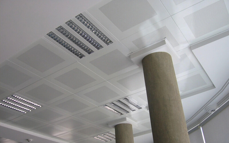 aluminum clip in ceiling